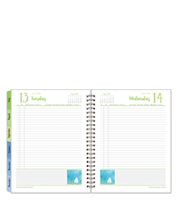 Her Point of View Six Month Wire-bound Planning Notebook