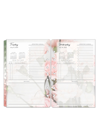 Classic Blooms One Page Per Day Ring-bound Planner