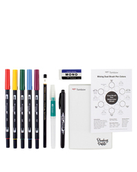 Watercolor Set with Guide