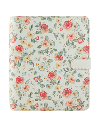 Planner Love Gingham Gardens Simulated Leather Snap Binder