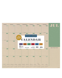 Academic Kraft  Large Desk Pad Calendar - July 2020-2021