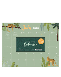 Academic Monthly ThemeLarge Desk Pad Calendar - July 2020-2021