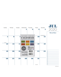 Academic Professional Mini 9x12 Desk Pad Calendar - July 2020-2021