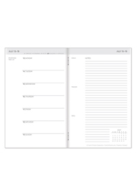 Travelers Weekly 6-Month Planner - Jul 2020 - Dec 2020
