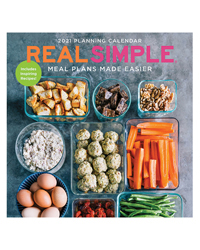 2021 Real Simple-Meal Plans Made Easier Wall Calendar
