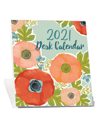2021 Desk Calendar - Poppies in Bloom