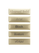 Brushed Brass Nameplate
