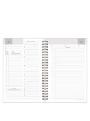 Compass Wire-bound Two-Page-Per-Day Flex-Dated 31 Day Sample Planner