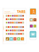 Alphabet, Numbers, Pictograms Peel & Stick Tabs
