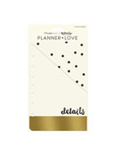 Gold Planner Love Pocket Dividers