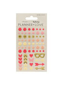 My Story Planner Love Enamel Shapes