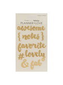 Gold Planner Love Acrylic Words