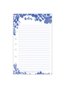 Flora Lined Notepad