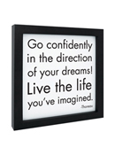 Quotable Framed Print Go Confidently