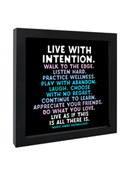 Quotable Framed Print Live with Intention