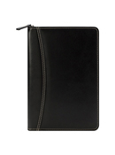 Simulated Leather Zipper Wire-bound Cover with Undated Weekly Planner