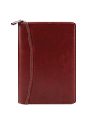 Cameron Simulated Leather Zipper Wire-bound Cover with Undated Weekly Planner
