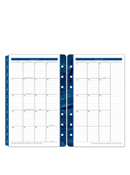 Monticello Two-Page Monthly Calendar Tabs