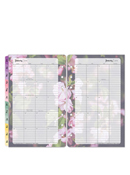 Blooms Two-Page Monthly Calendar Tabs