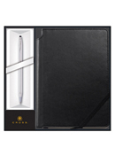 Classic Century Pen Ballpoint Chrome With Medium Journal Black