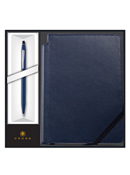 Click Pen Ballpoint Midnight Blue With Medium Journal Blue