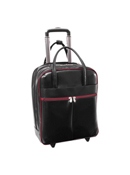 Volo Leather Overnighter Wheeled Carry-On