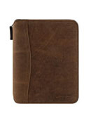 Ethan Leather Spacemaker Zipper Binder