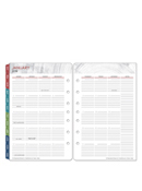 Textures Ring-bound Two Page Monthly Calendar Tabs