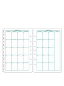Original Two-Page Monthly Calendar Tabs