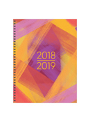 Painted Colors Large Weekly/Monthly Academic Year Planner - 2018/2019