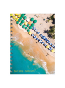 Tropical Beaches Medium Weekly/Monthly Academic Year Planner - 2018/2019