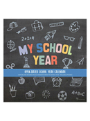 School Year Open-Dated Wall Calendar