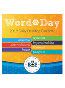 Word Of The Day 2019 Daily Desktop Calendar