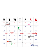 Large Letters Open Dated Desk Pad Calendar