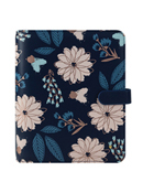 Brushed Floral Planner Love Simulated Leather Snap Binder