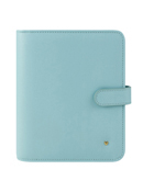 Brushed Blue Planner Love Simulated Leather Snap Binder