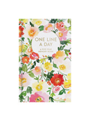 One Line a Day Memory Book - Floral