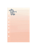 Brushed Planner Love Lined Notepad