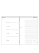 Travelers Weekly Planner - Gray Cover