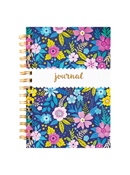 Floral Hard Cover Journal With Gold Foil