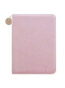 Pink Velvet Folio With Notepad