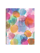 Watercolor Dots Large Weekly/Monthly Academic Planner - July 2019 - June 2020