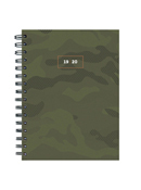 Camo Medium Weekly/Monthly Academic Planner - July 2019 - June 2020