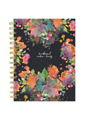 Floral Leaves Medium Weekly/Monthly Academic Planner - July 2019 - June 2020