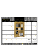 Academic Floral Black & Gold Mini 9x12 Desk Pad Calendar - July 2019 -June 2020