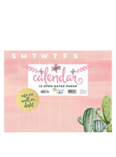 Open Dated Cactus Mini 9x12 Desk Pad Monthly Calendar