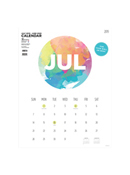 Academic Year Deluxe Painted Circle Deluxe Art Calendar - July 2019 - June 2020