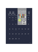 Academic Year Deluxe Color Collection 9x12 Mini Art Calendar - July 2019 - June 2020