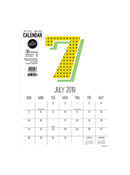 Academic Year Deluxe Monthly Numbers 9x12 Mini Art Calendar - July 2019 - June 2020