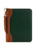 Libby Leather Zipper Binder